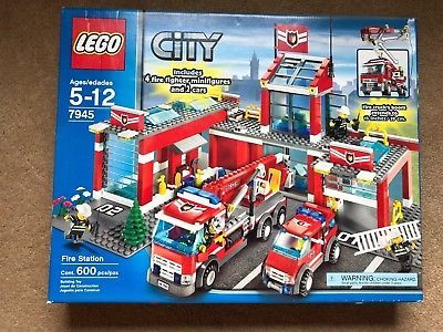 Lego City Fire Station 7945 Brand New Unopened Box With Original
