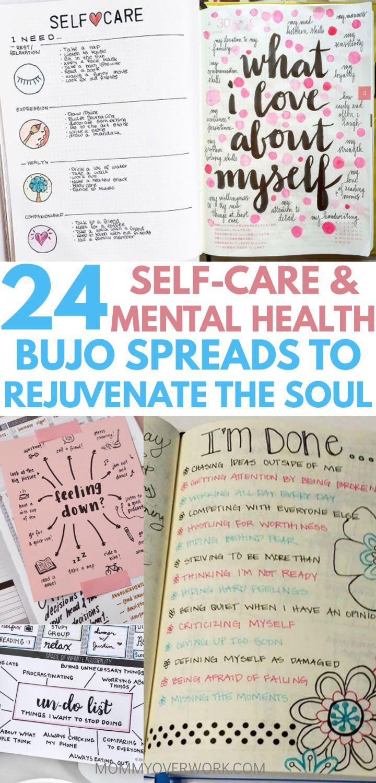 24 Self Care Bullet Journal Ideas for OPTIMAL MENTAL HEALTH #mentalhealthjournal