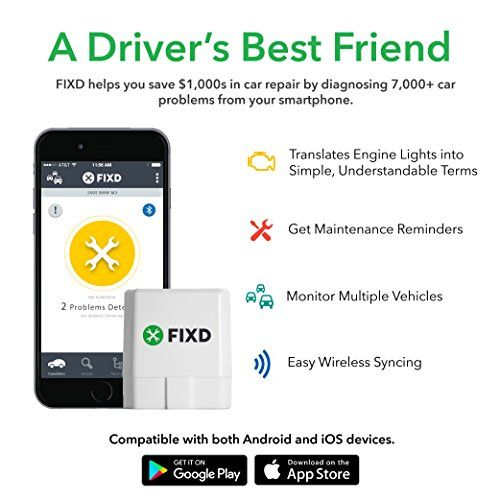 Fixd Obd2 Professional Bluetooth Scan Tool  Code Reader For Iphone And Android