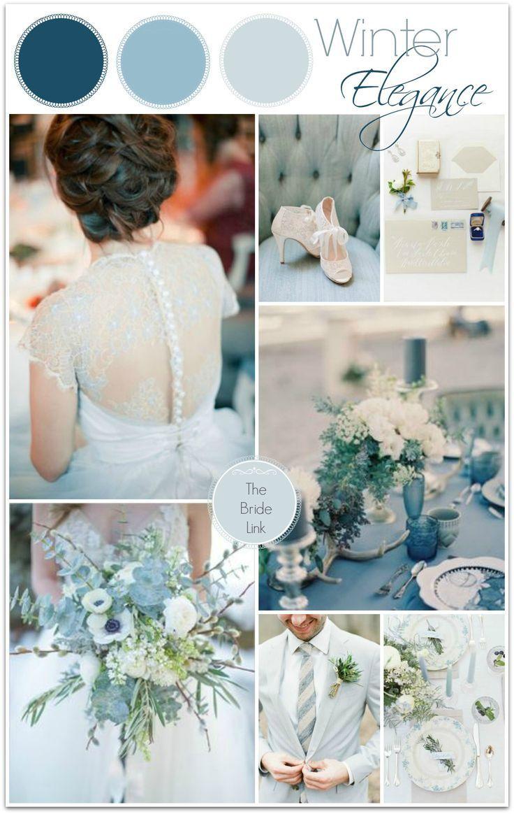 Blue Winter Wedding Color Ideas Blue Winter Wedding Wedding