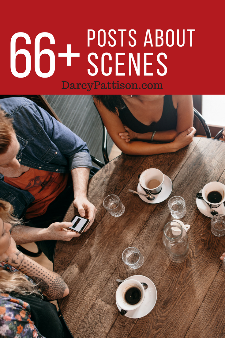 66+ Useful, Amazing Posts about Writing Great Scenes | DarcyPattison.com. The backbone of great fiction is a strong scene. Learn the basics and your options.