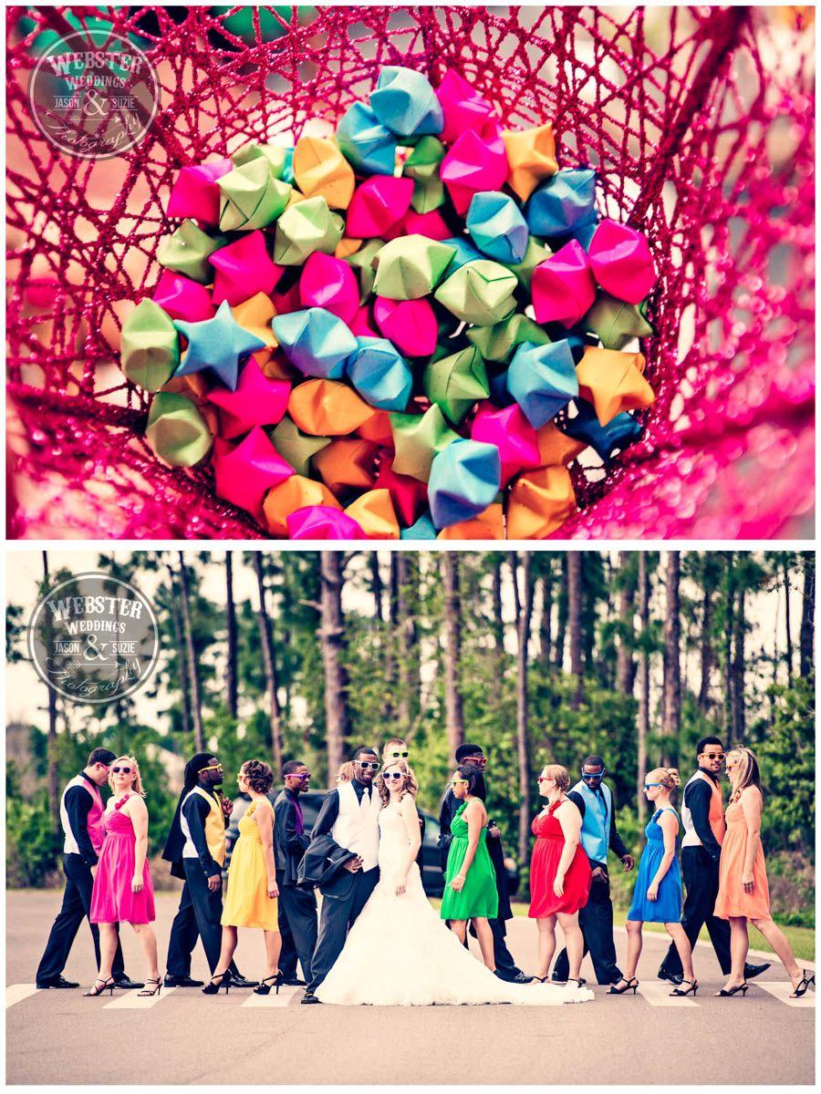 Rainbow Theme Wedding Colorful Wedding Paper Flowers Sunglasses