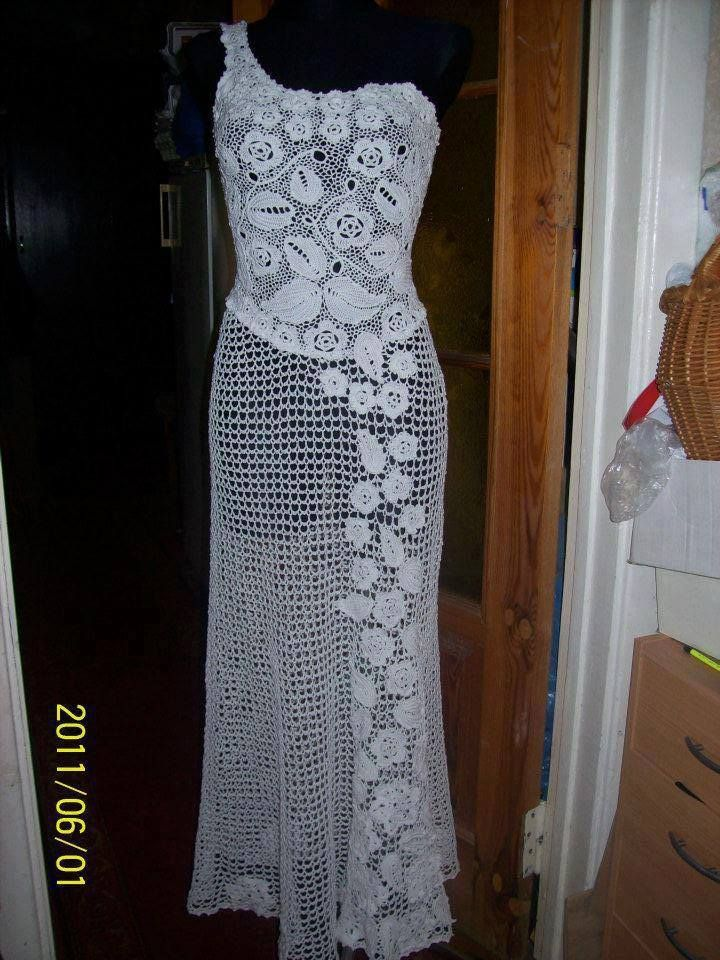 Irish Crochet Dress Hkovn In 2018 Pinterest Crochet Irish