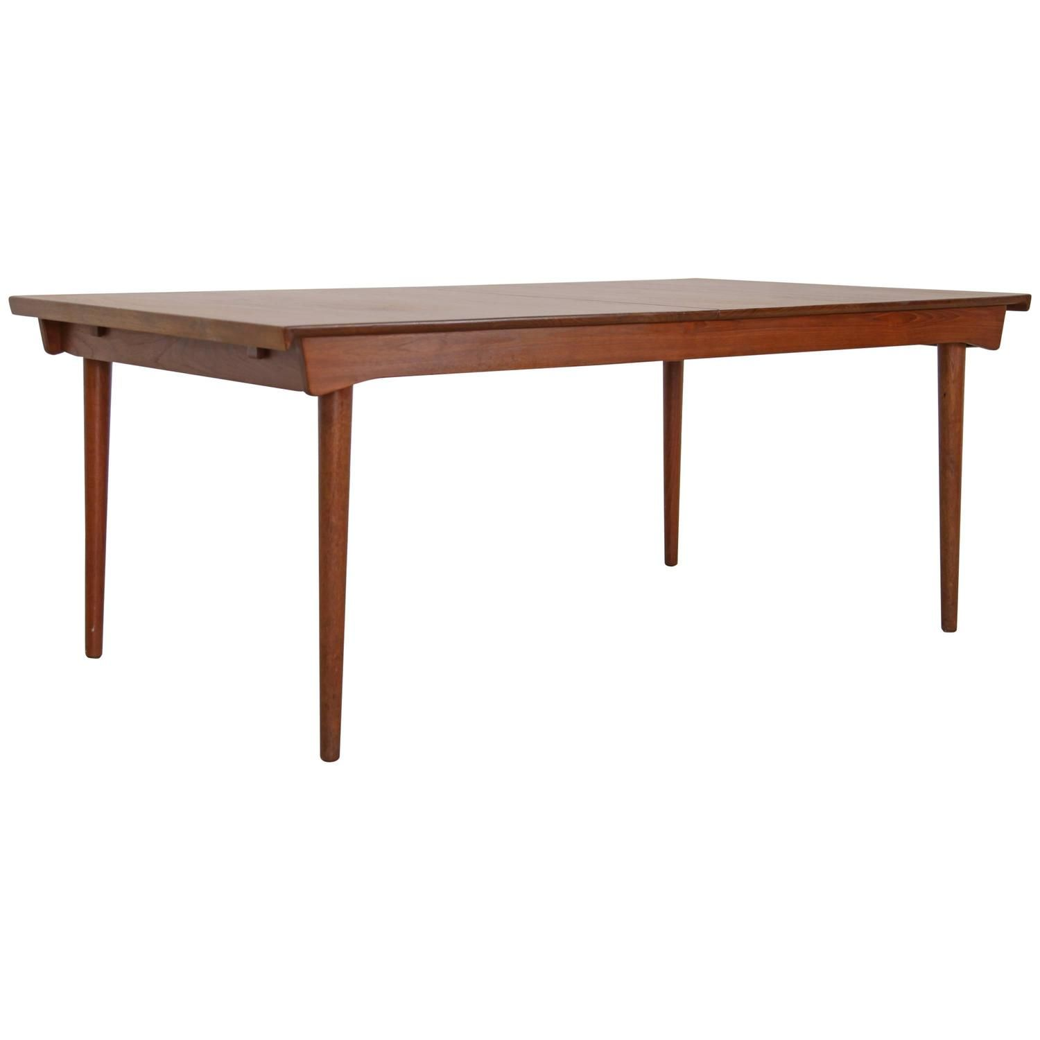 Finn Juhl Solid Teak Dining Table Fd 540 By France Daverkosen Dining Room Table Teak Dining Table Vintage Dining Room Table