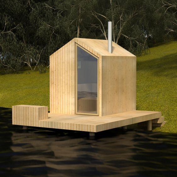 Sauna concept, design by sTeam Haus im wald, Gartenhaus
