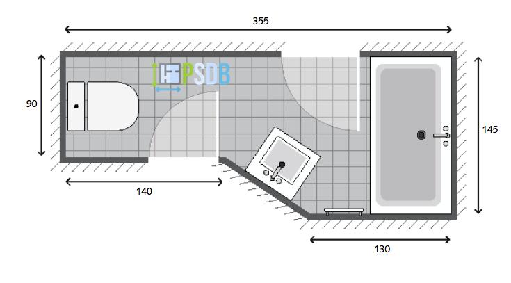 salle de bain 4m2