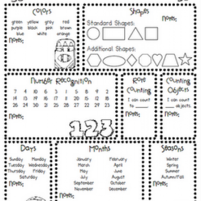 printable kindergarten assessments - Printable For Kindergarten