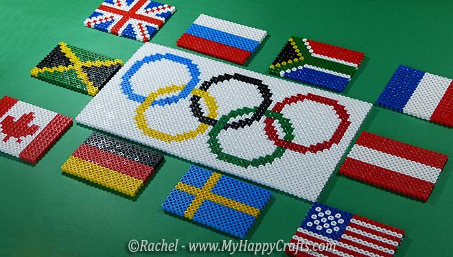 olympic and countries flags fuse beads   Flaggen   Pinterest   Beads ...