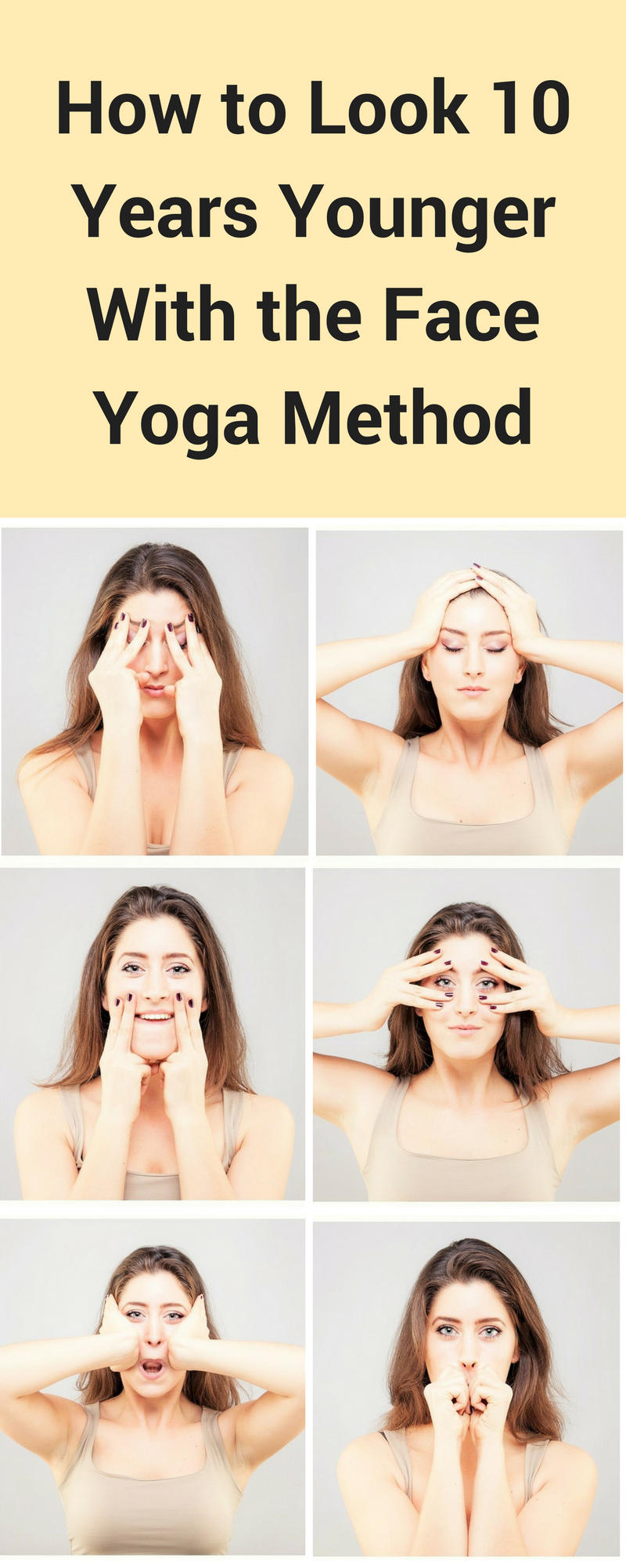 Face Yoga Makes You Look Younger By Toning The Face Try The Pefect Face Yoga Program To Make You Look And Feel Younger Face Yoga Facial Yoga Face Yoga Method