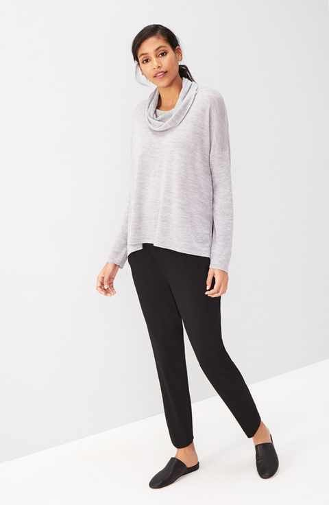 Eileen Fisher Sweater & Ankle Pants Outfit with Accessories | 5 ...