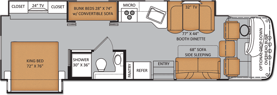 rv floor plans with bunk beds | motorhomes-with-bunk-beds-34-3