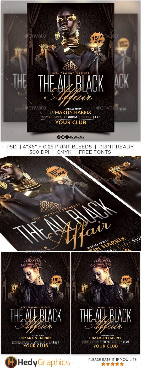 the all black affair flyer pinterest flyer template template