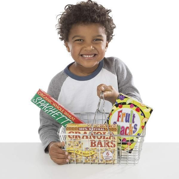 Photo of Melissa & Doug Grocery Basket with Play Food Set