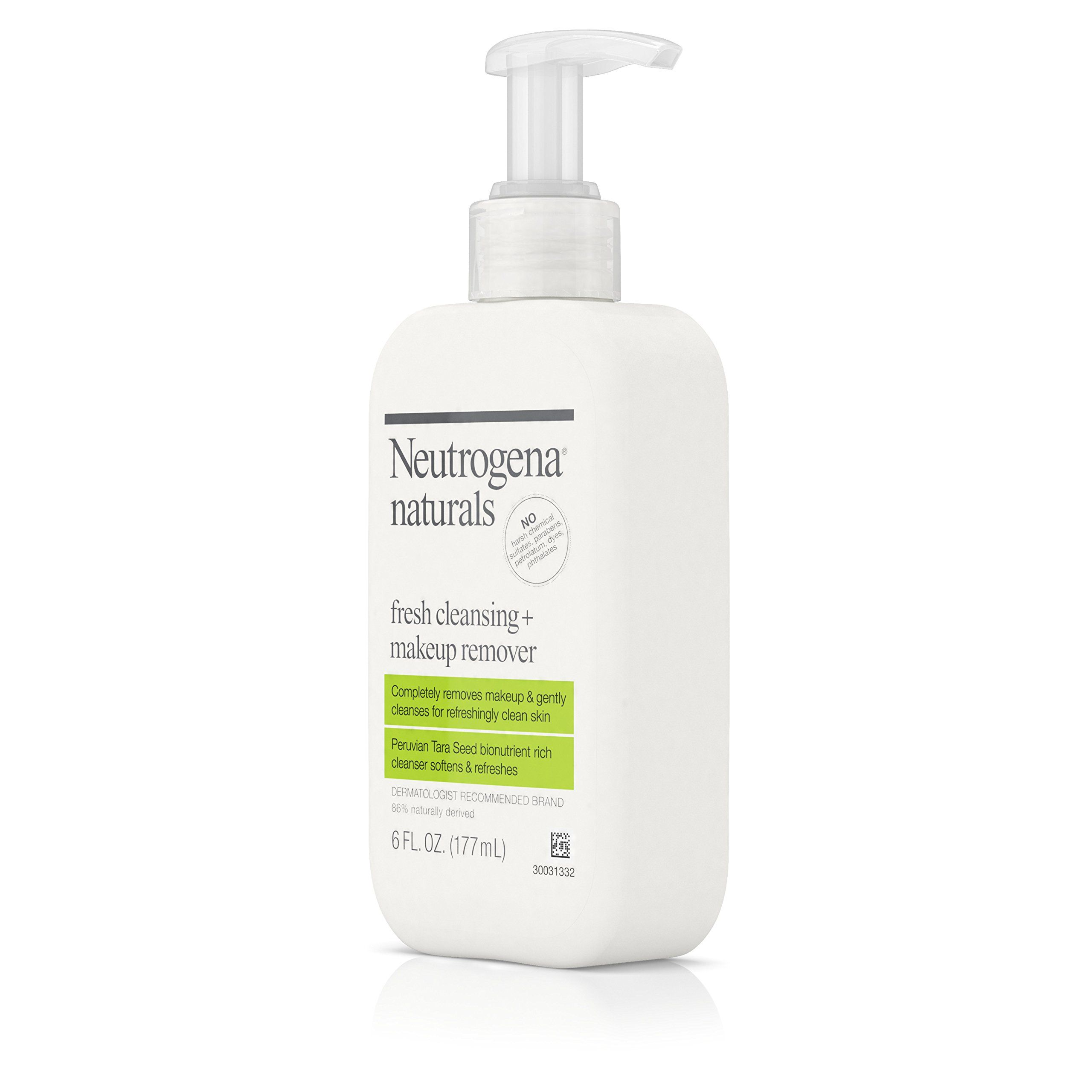 Neutrogena Naturals Fresh Cleansing Daily Face Wash Makeup