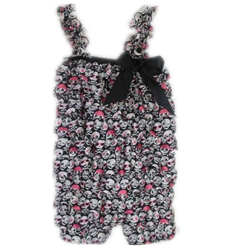 83e90b0eba9e Baby Girl Romper Halloween Newborn Jumpsuits Toddler Petti Rompers  Halloween Skull Romper Infant Clothes