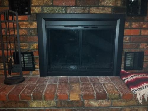 hearth z medium in black fireplace shop doors door s decor easton finish pleasant