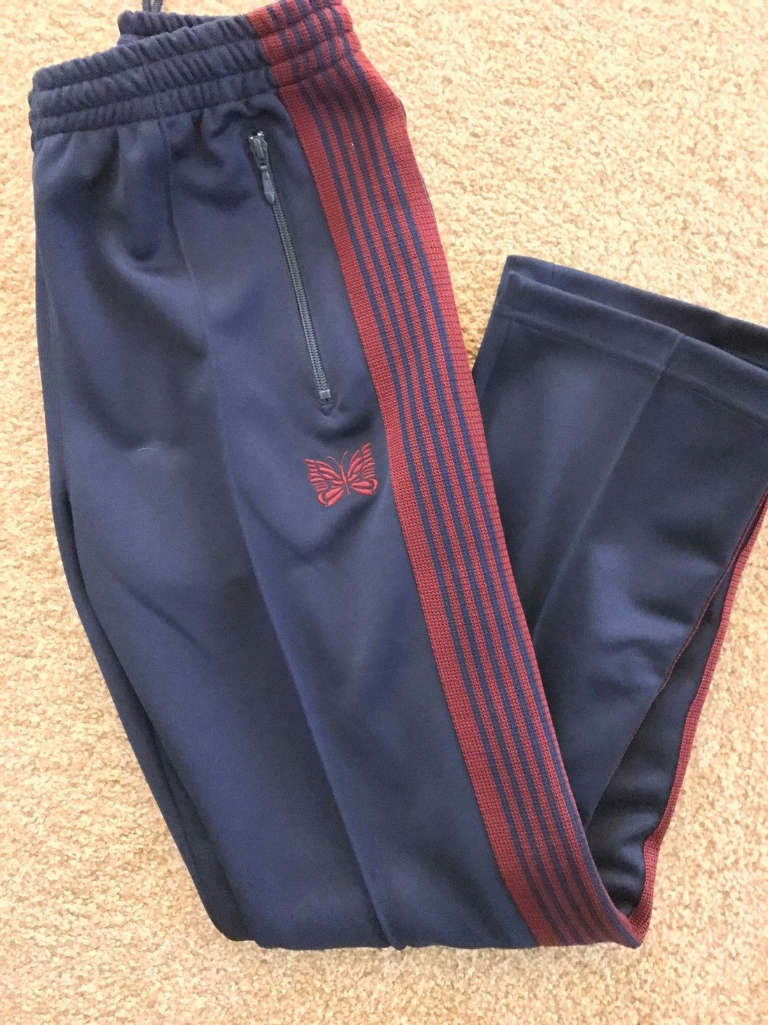 b4760bf13d1bf3 Needles Needles Narrow Track Pants Sweatpants Navy Red Size Small Brand New  With Tags Size 29 $360 - Grailed