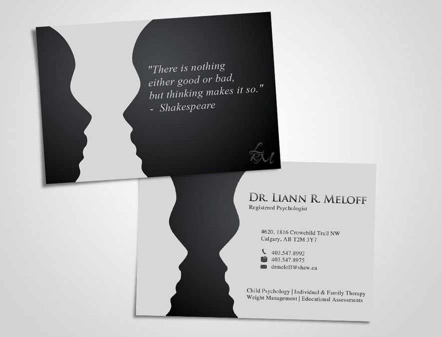 Create a standout business card for a professional psychologist ...