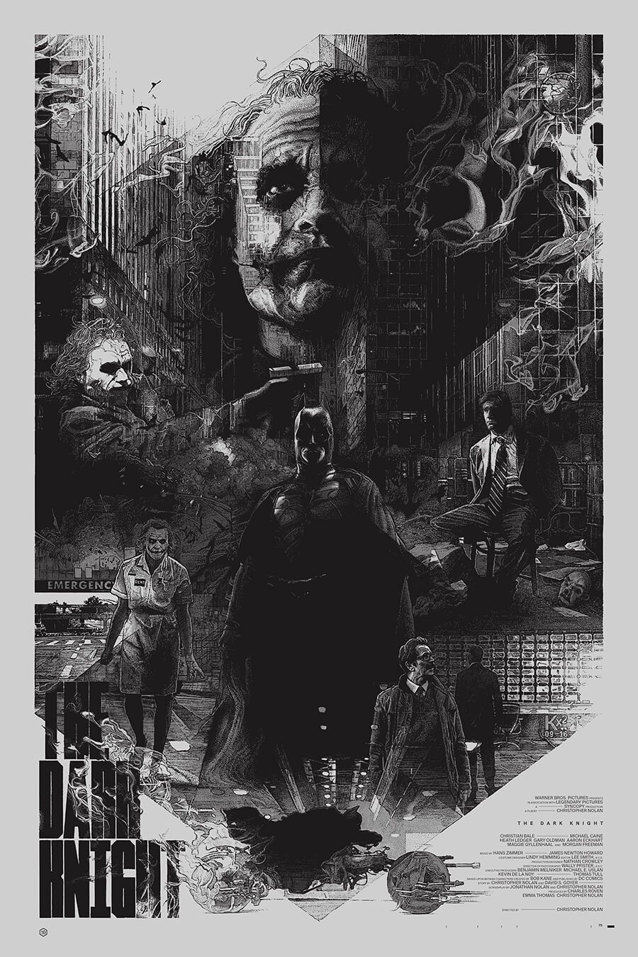 Stunning Poster Art for Christopher Nolan's DARK KNIGHT