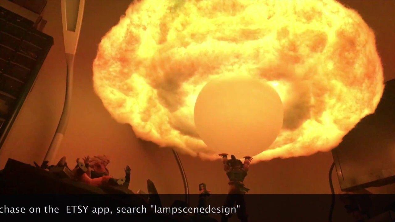Dragon Ball Z Dbz Goku Spirit Bomb Cloud Hanging Lamp Youtube Dragon Ball Z Hanging Lamp Lamp