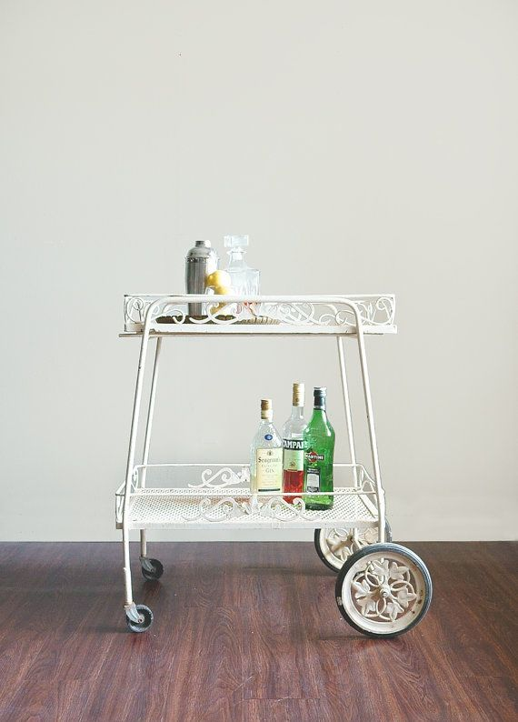 Hey I Found This Really Awesome Etsy Listing At Https Www 221687299 Vintage Bar Cart Wrought Iron Outdoor