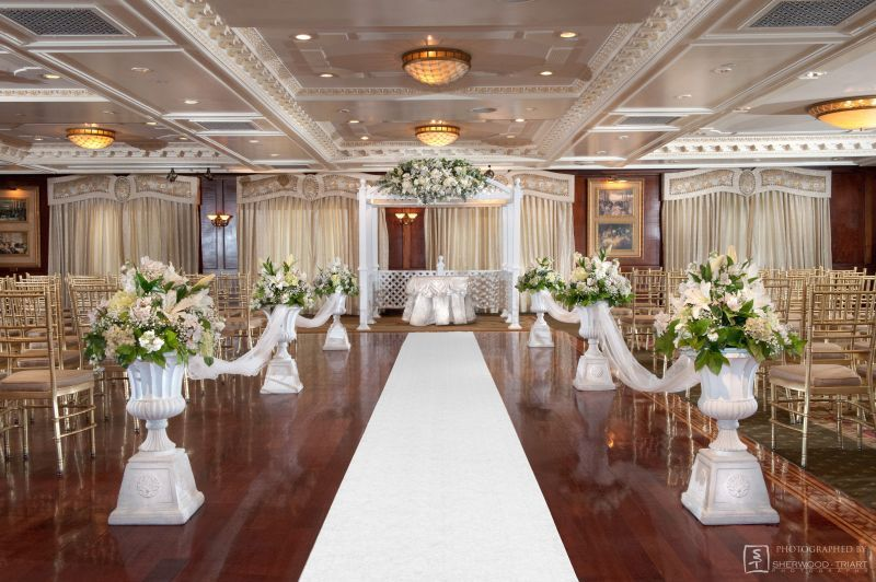 Indoor Clic Wedding Ceremony At Westbury Manor In Ny Weddingceremony