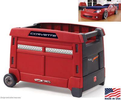 Corvette Toy Box | Race car room | Pinterest | Toy boxes, Corvette ...