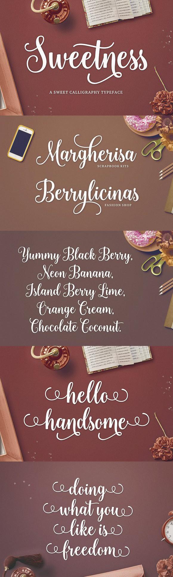 Sweetness Script Romantic fonts, Lettering fonts