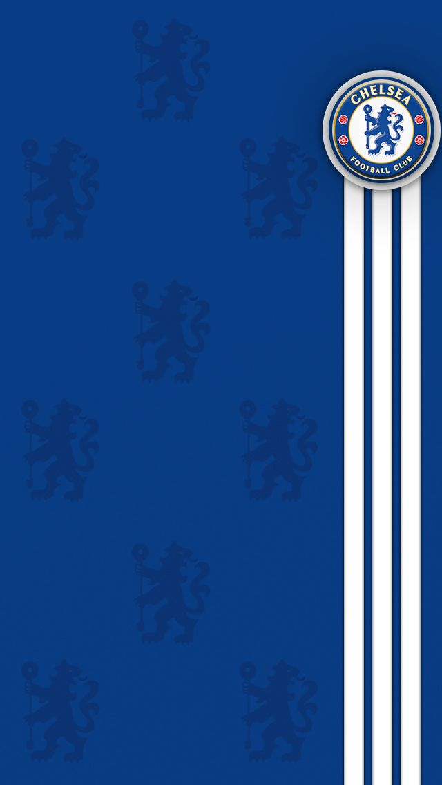 Mobile Wallpapers Available For Ios And Android Customize Your Phone Or Tablet With A Smart Chelsea Football Club Kit Background Sepak Bola Gambar Jam Dinding