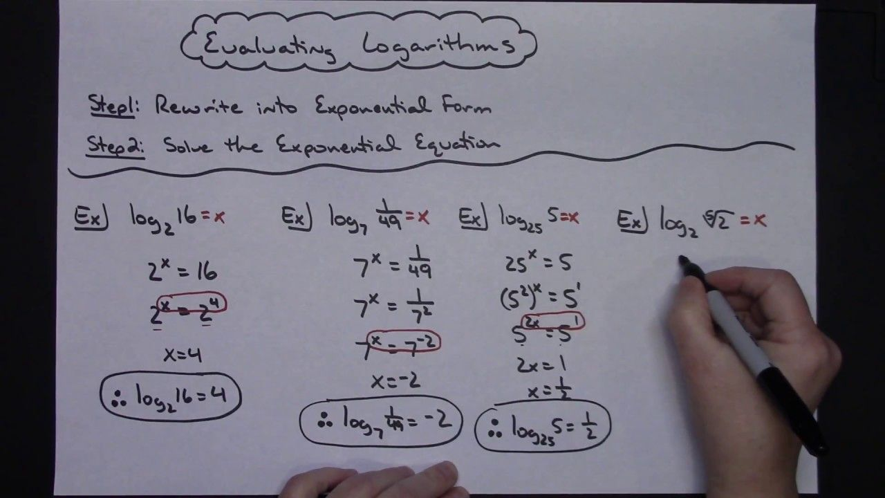 Evaluating Logarithms Without A Calculator Math Tutorials Calculus Math Numbers