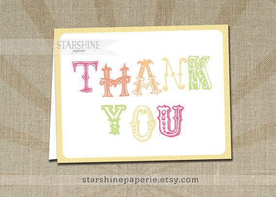 Rainbow Thank You Card INSTANT DOWNLOAD Gelato Printable Non-Editable Girl A2 Folded Fill-In Blank Notecard Birthday Kids Stationery - Sami