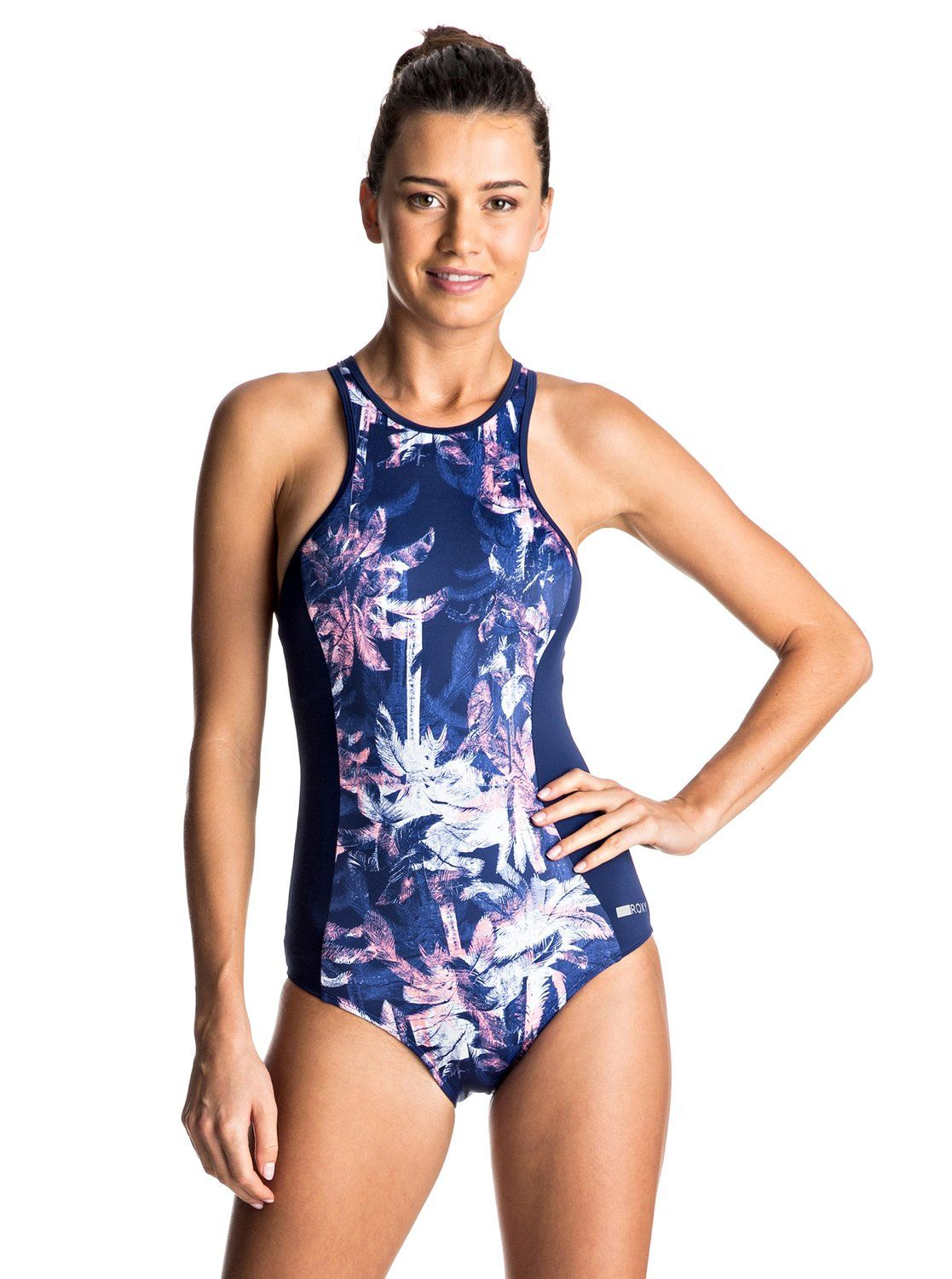 3f0f2a1beb44f Keep It ROXY Back Zip One Piece Swimsuit in 2019 | swimwear | One ...