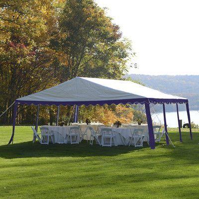 ShelterLogic 20 Ft W x 20 Ft D Party Shelter Color: Blue / White