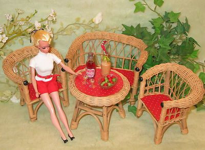 "Perfect Display for Large 11"" Bild Lilli Doll Summer Garden Set Germany 1950s 