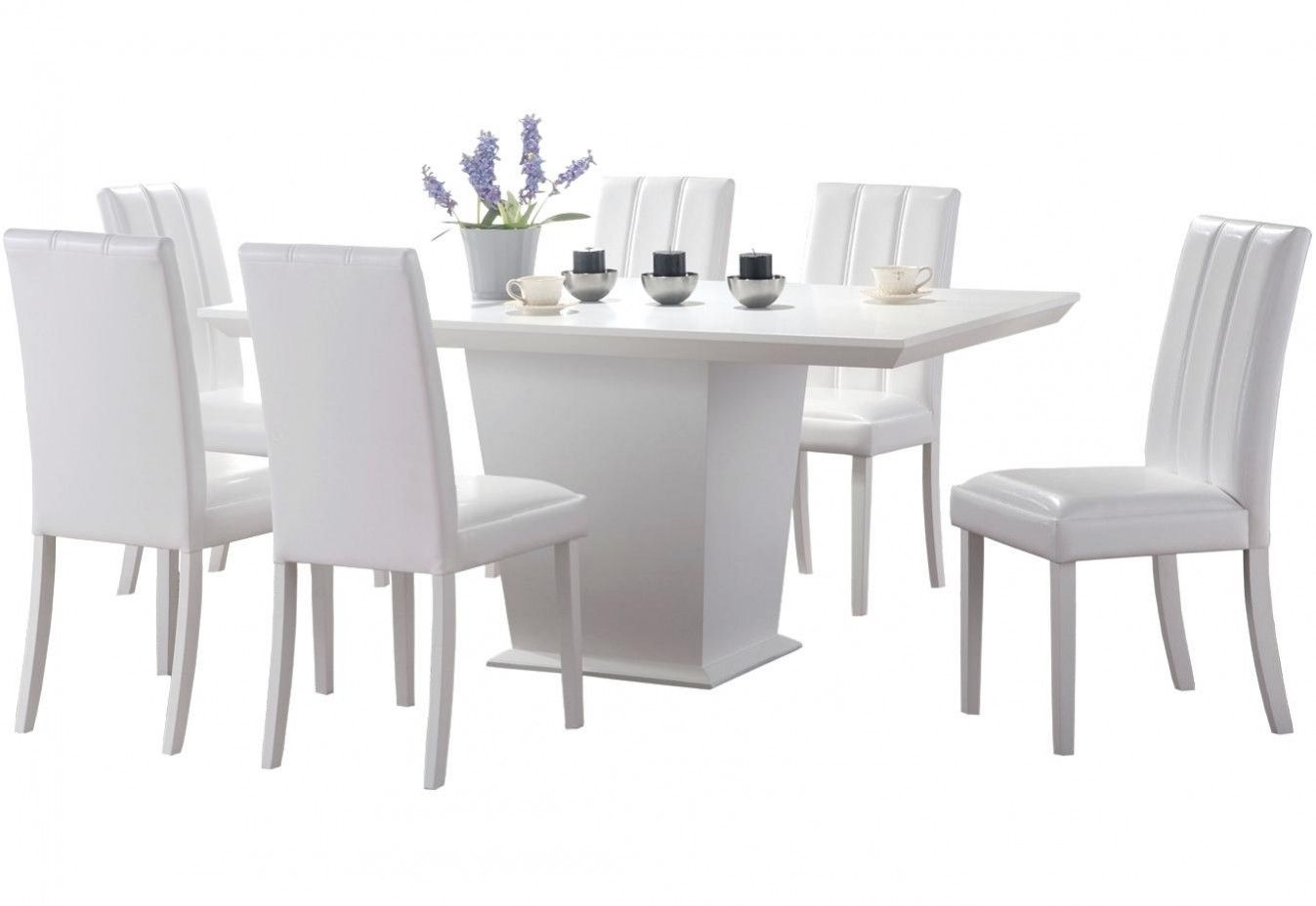 2019 White Dining Table 6 Chairs Modern Furniture Design Check