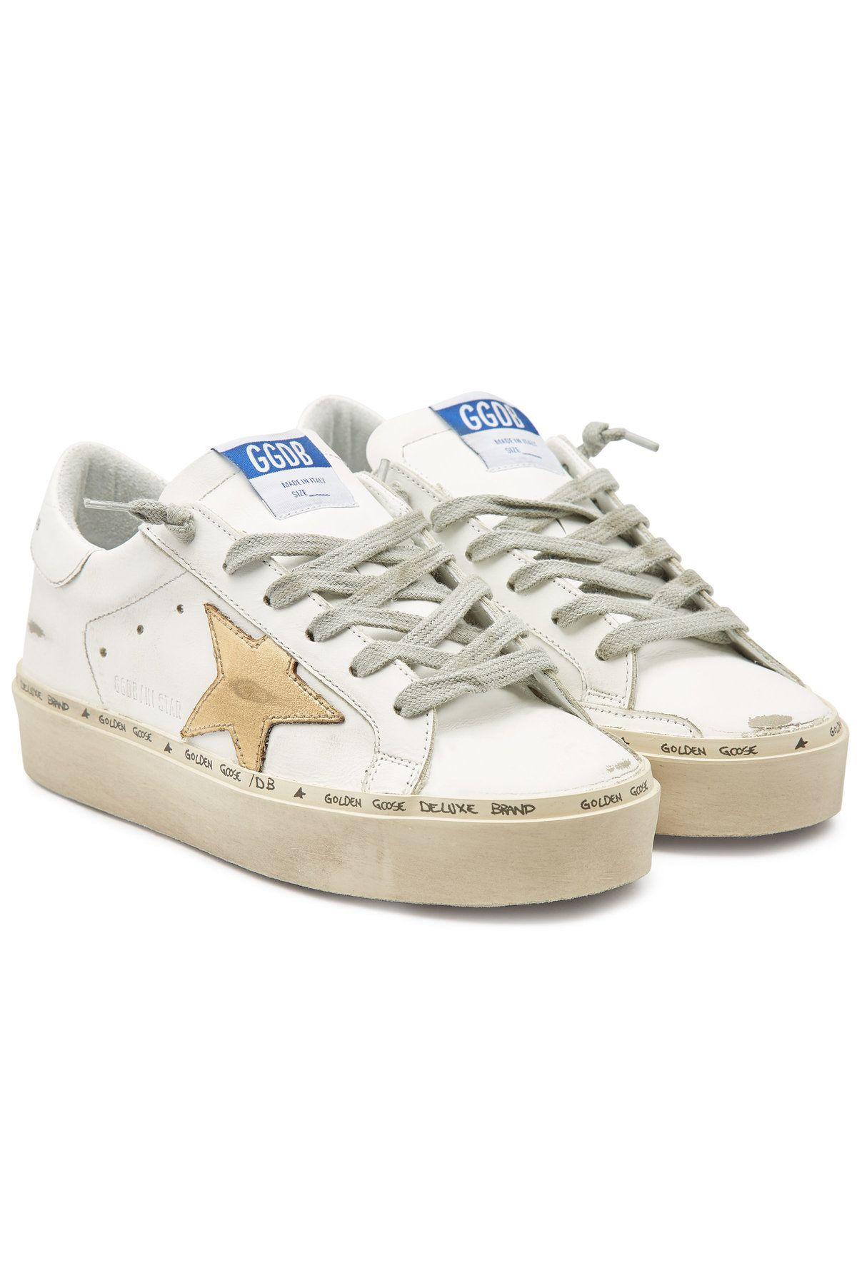 43d7cd433aa53 Golden Goose Deluxe Brand - Hi Star Leather Platform Sneakers on  STYLEBOP.com