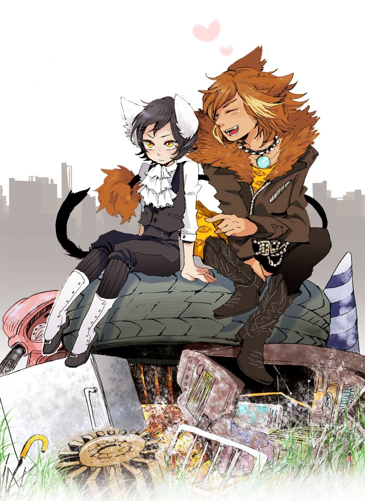 Omg!!! This is such a cute drawing of Mistoffelees and Rum
