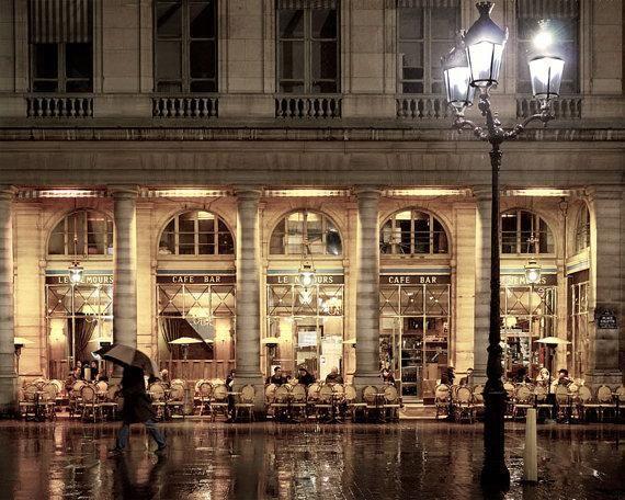 Paris Print Shop - Paris Cafe Nemours, Paris