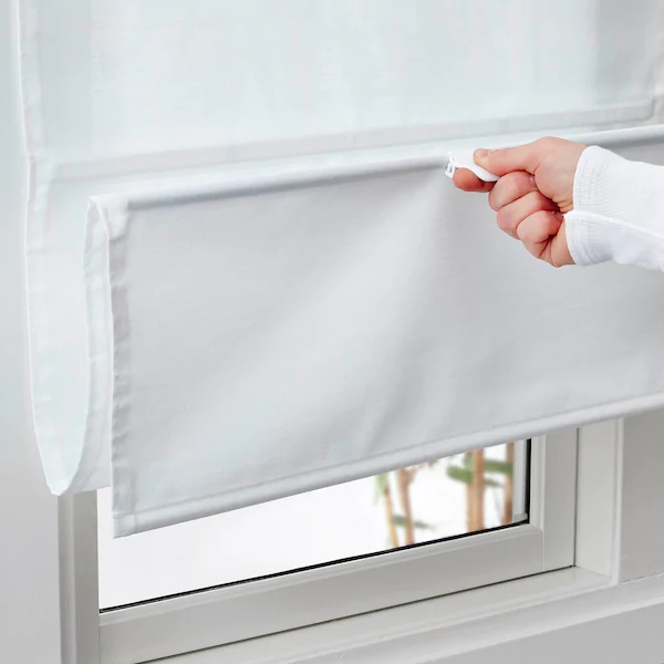 Ringblomma Roman Blind White Ikea In 2020 Curtains With Blinds Roman Blinds Blinds For Windows