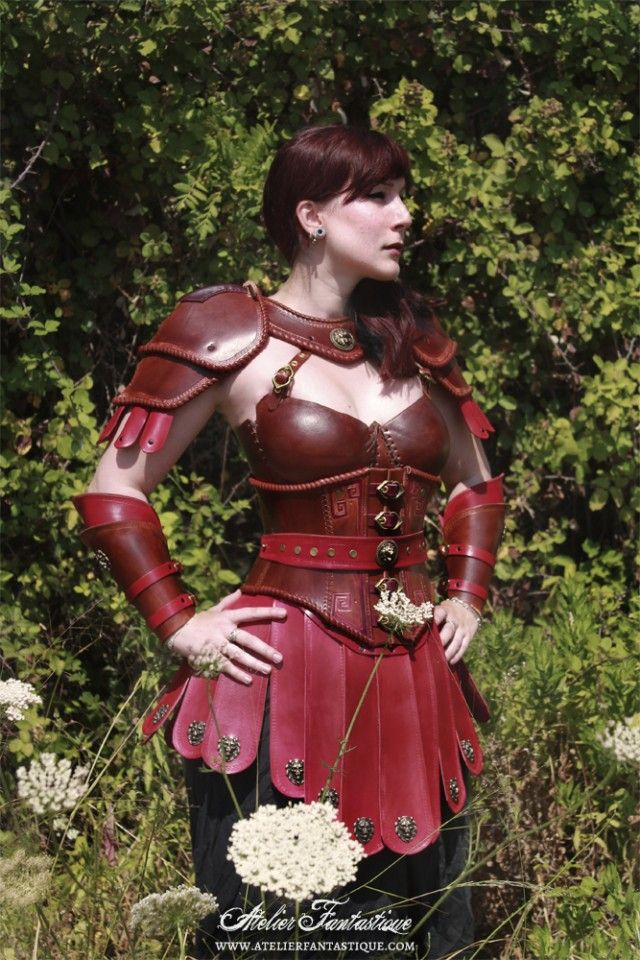 Roman womans breast plate costume