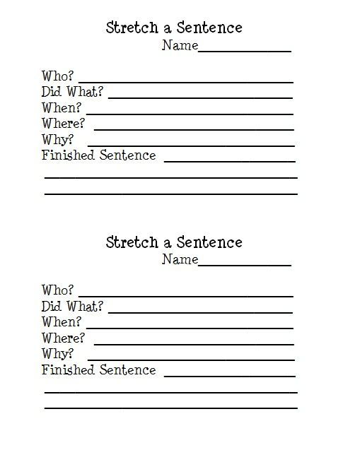 stretch a sentence free writing worksheet download my classroom pinterest writing. Black Bedroom Furniture Sets. Home Design Ideas