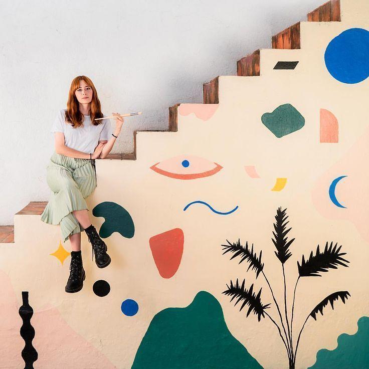 85 Wohnzimmer Tapeten Ideen: Die Mexikanische Künstlerin Alejandra García Neben Einem