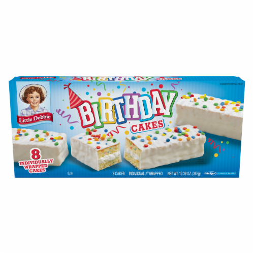 Little Debbie Birthday Cakes Perspective: Front