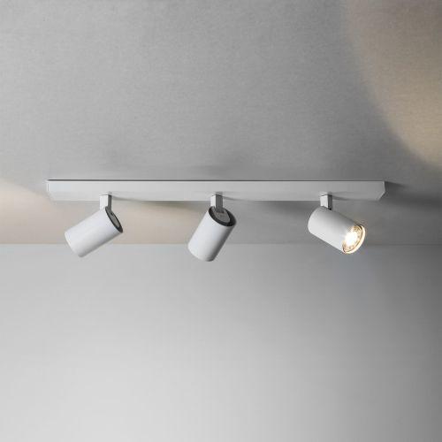 Stilvolle Deckenleuchte Ascoli in weiß dimmbar 3-flammig länglich - deckenleuchte für küche