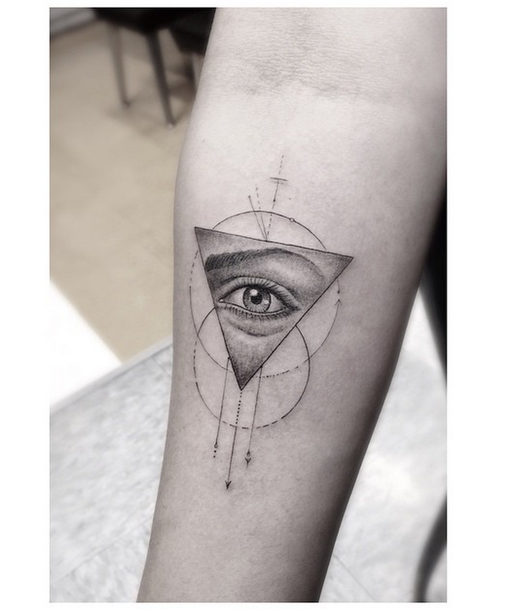 Eye With Triangle Tattoo: Geometric Eye Triangle Dr. Woo