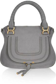 Chloé Sac à main en cuir texturé Marcie Medium | NET-A-PORTER. It-bag