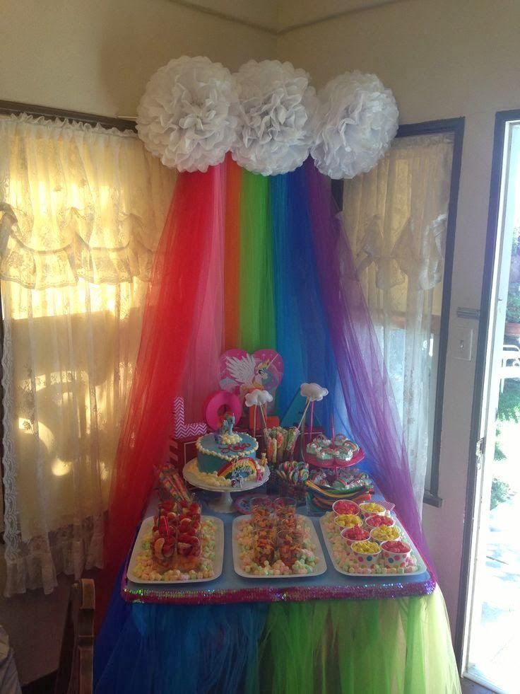 Decoraci n de fiesta de cumplea os de my little pony - Decoracion fiesta infantil ...