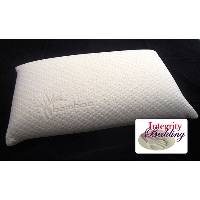 Italian 6-inch Memory Foam Pillow with Rayon from Bamboo Cover