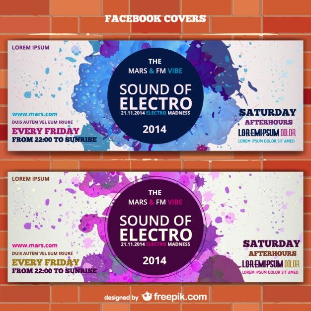 Mockup electro music banner ticket invitation Free Vector - design tickets template