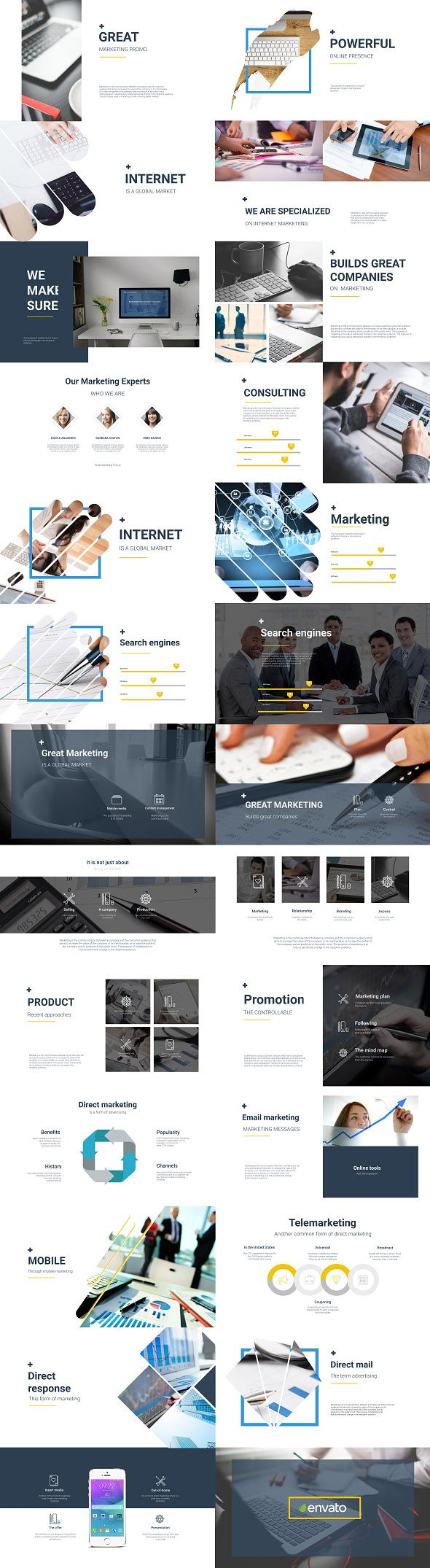 Business Marketer Flat Corporate Presentation Buy Business And
